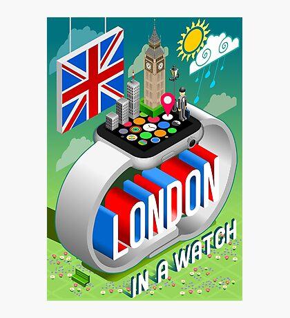 London-UK-Watch-Concept-Isometric Photographic Print