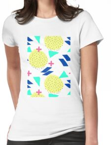 Throwback Abstract 1 Womens Fitted T-Shirt