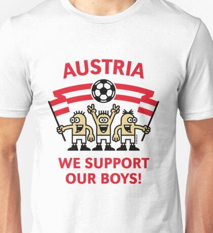 We Support Our Boys! (Austria / Fußball) Unisex T-Shirt