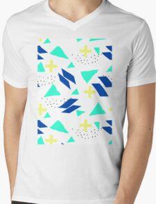Throwback Abstract 3 Mens V-Neck T-Shirt