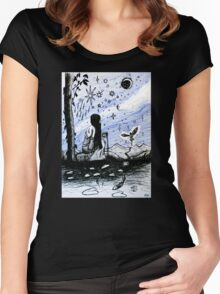 The Star - Tarot Series by Minxi Women's Fitted Scoop T-Shirt