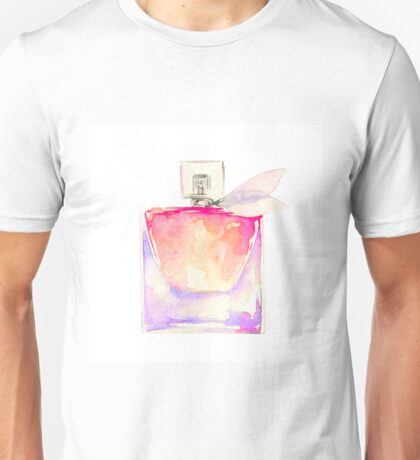 Pink Perfume - Watercolor Fashion Illustration  Unisex T-Shirt