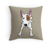 Ruby The English Bull Terrier Throw Pillow