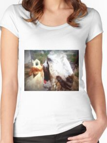 Sheep from Hatzor farm Women's Fitted Scoop T-Shirt