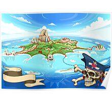 Treasure-Island-Landscape-Fantasy Poster