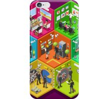 Bank 01 Cells Isometric iPhone Case/Skin