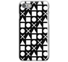 Gamer Pattern Solid White on Black iPhone Case/Skin