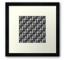 Gamer Pattern Solid White on Black Framed Print