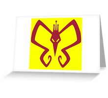 The Mighty Monarch - Venture Brothers Greeting Card