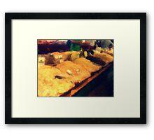 Spice Market in Hatzor Framed Print