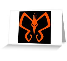 The Venture Brothers - Monarch Logo - Orange Greeting Card