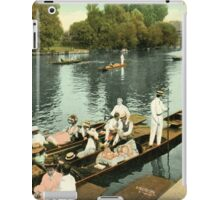 British rowing history, 1890s River Thames from Molesey Lock iPad Case/Skin