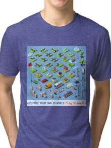 City-01-COMPLETE-Set-Isometric Tri-blend T-Shirt