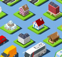 City-01-COMPLETE-Set-Isometric Sticker