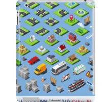 City-01-COMPLETE-Set-Isometric iPad Case/Skin