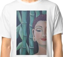 blue bamboo,Buddha Classic T-Shirt