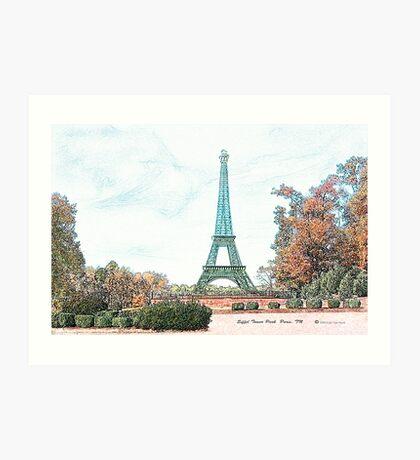"""Eiffel Tower Park "" Paris, TN Art Print"