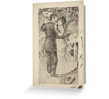 Auguste Renoir - Dance in the Country 1883 Romance Kiss Greeting Card