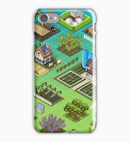 Farm-Tiles-02-Building-Isometric iPhone Case/Skin