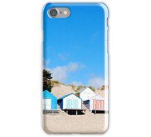 Abersoch Beach huts iPhone Case/Skin