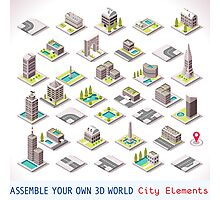 Game-Set-01-Building-Isometric Photographic Print