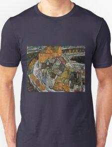 Egon Schiele - Crescent of Houses II Island Town 1915 Egon Schiele   Landscape Unisex T-Shirt