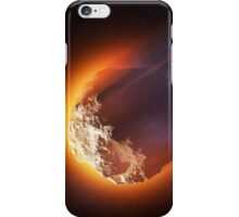 Burning asteroid entering the atmoshere iPhone Case/Skin