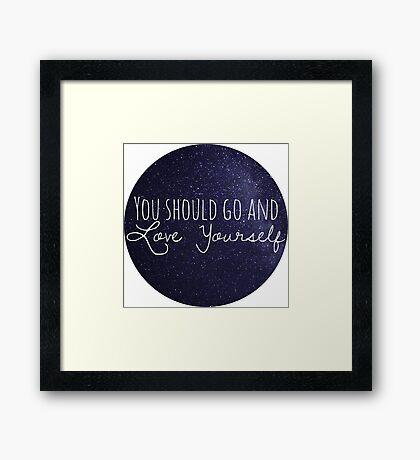 justin bieber - love yourself  Framed Print