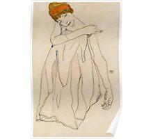 Egon Schiele - Dancer, Die Tanzerin 1913 Egon Schiele ,Woman Portrait Poster