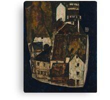Egon Schiele - Dead City III, City on the Blue River III 1911  Egon Schiele   Landscape Canvas Print