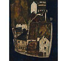 Egon Schiele - Dead City III, City on the Blue River III 1911  Egon Schiele   Landscape Photographic Print
