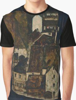 Egon Schiele - Dead City III, City on the Blue River III 1911  Egon Schiele   Landscape Graphic T-Shirt