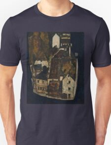 Egon Schiele - Dead City III, City on the Blue River III 1911  Egon Schiele   Landscape Unisex T-Shirt