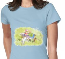 Victorian Children & Dog Womens Fitted T-Shirt