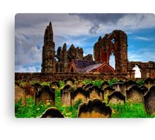 The Abbey from the Graveyard Canvas Print