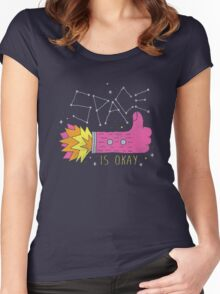 SPACE IS OKAY! Women's Fitted Scoop T-Shirt