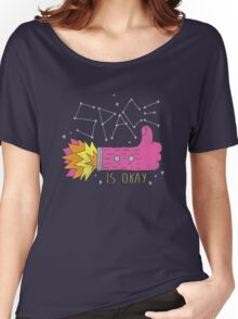 SPACE IS OKAY! Women's Relaxed Fit T-Shirt