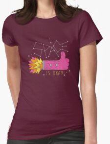 SPACE IS OKAY! Womens Fitted T-Shirt