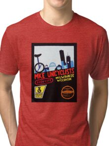 MKE Unicyclists Tri-blend T-Shirt
