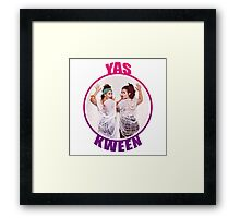 BROAD CITY YAS KWEEN Framed Print