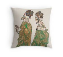 Egon Schiele - Devotion 1913 ,  Man Portrait , Egon Schiele  Throw Pillow
