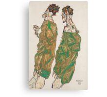 Egon Schiele - Devotion 1913 ,  Man Portrait , Egon Schiele  Canvas Print