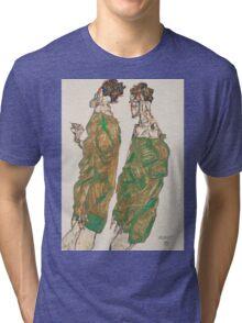 Egon Schiele - Devotion 1913 ,  Man Portrait , Egon Schiele  Tri-blend T-Shirt
