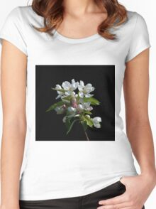 Crabapple Blossom Women's Fitted Scoop T-Shirt