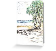 Tranquil Sandy Beach Greeting Card