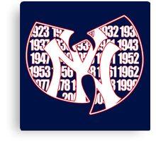 New York Yankees- Wu Tang mash up Championship years Canvas Print