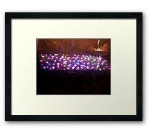 Lights games Framed Print