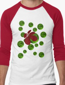 Balls with red flower Men's Baseball ¾ T-Shirt