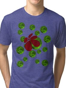 Balls with red flower Tri-blend T-Shirt