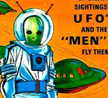 Retro Vintage Comic Book Cover Flying Saucers no.1, UFO Sticker